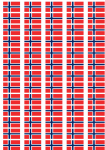 Norway Flag Stickers - 65 per sheet
